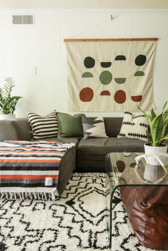 modern boho wall hanging DIY