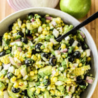 Summer Corn, Blueberry & Avocado Salad (or Salsa!)