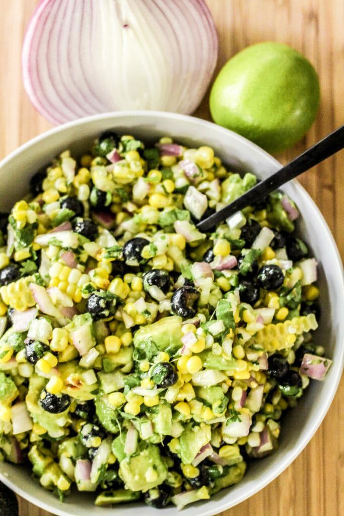 corn blueberry salad