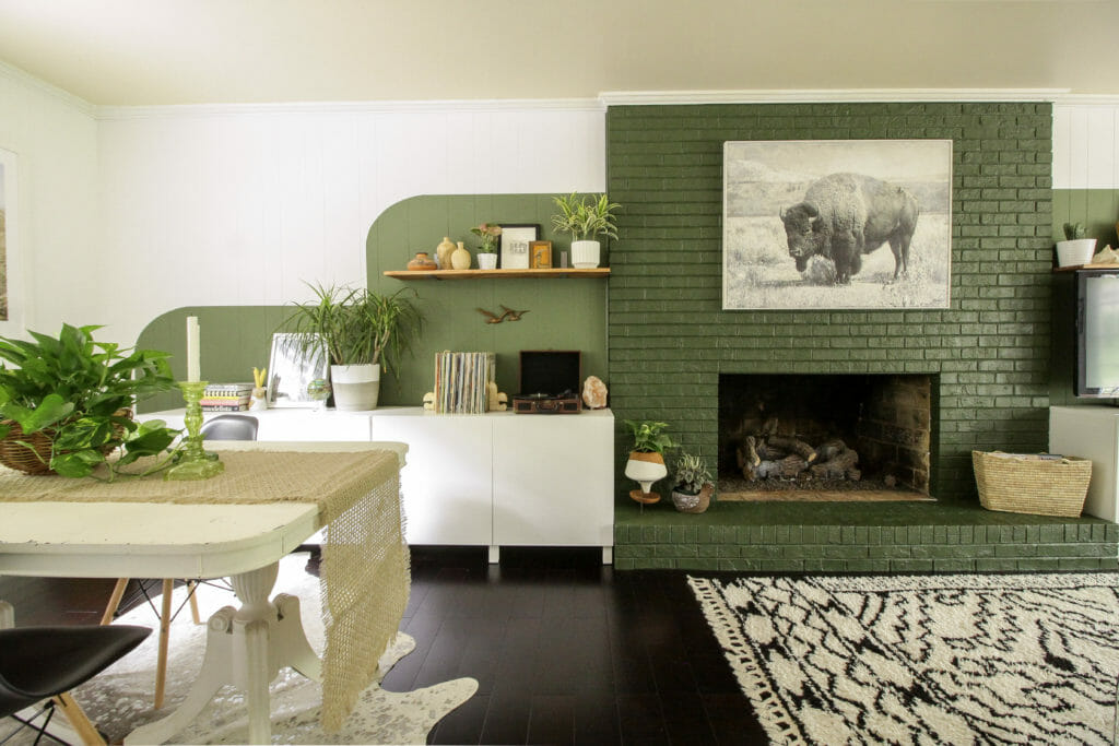 Modern Bohemian Color Block Family Room