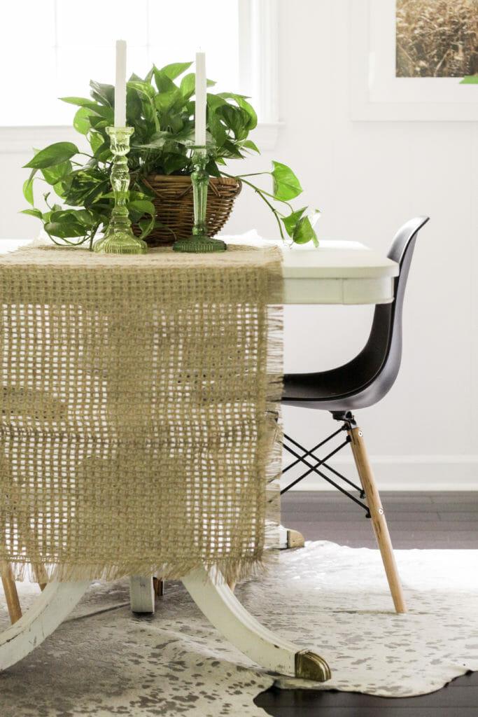 modern boho table styling