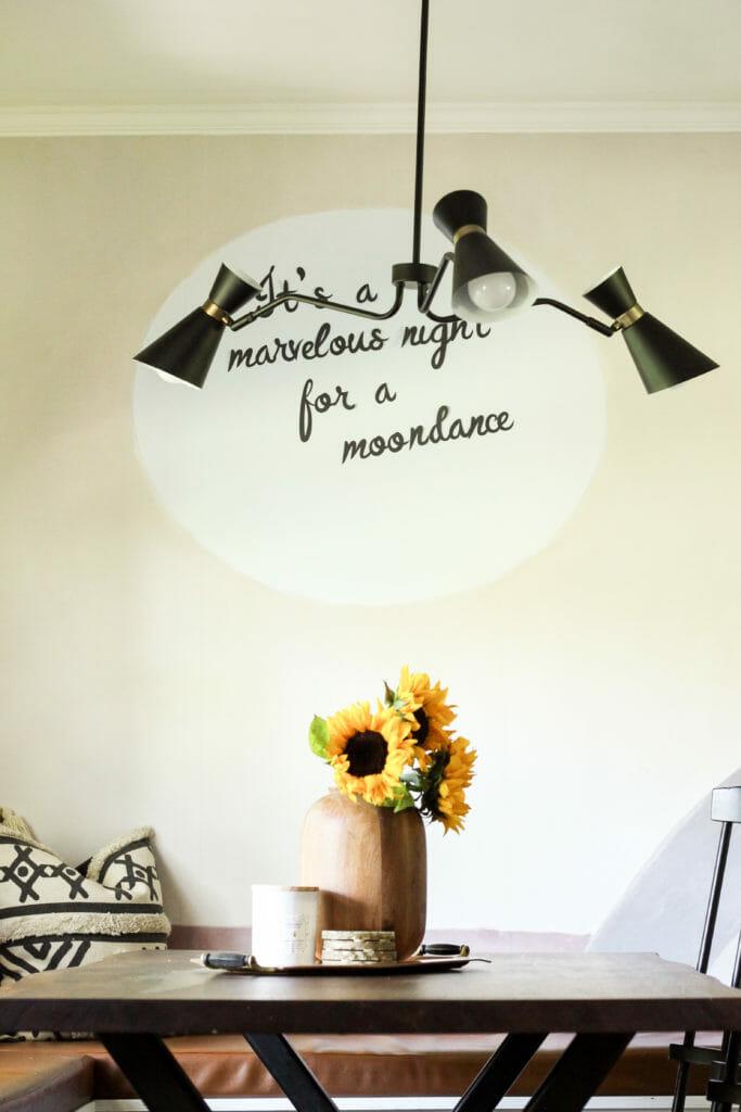 moondance lyric on wall