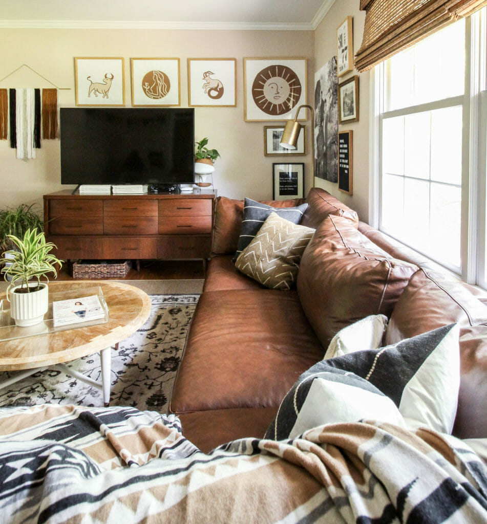 Pink and Brown Desert Vibes Living Room