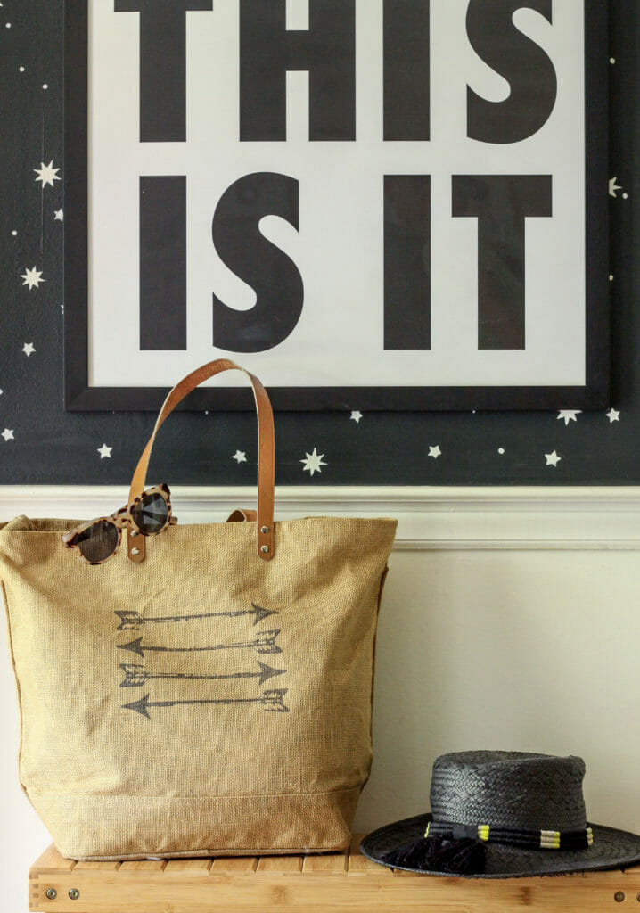 Summer tote and hat