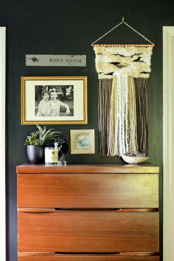 Vintage dresser styled