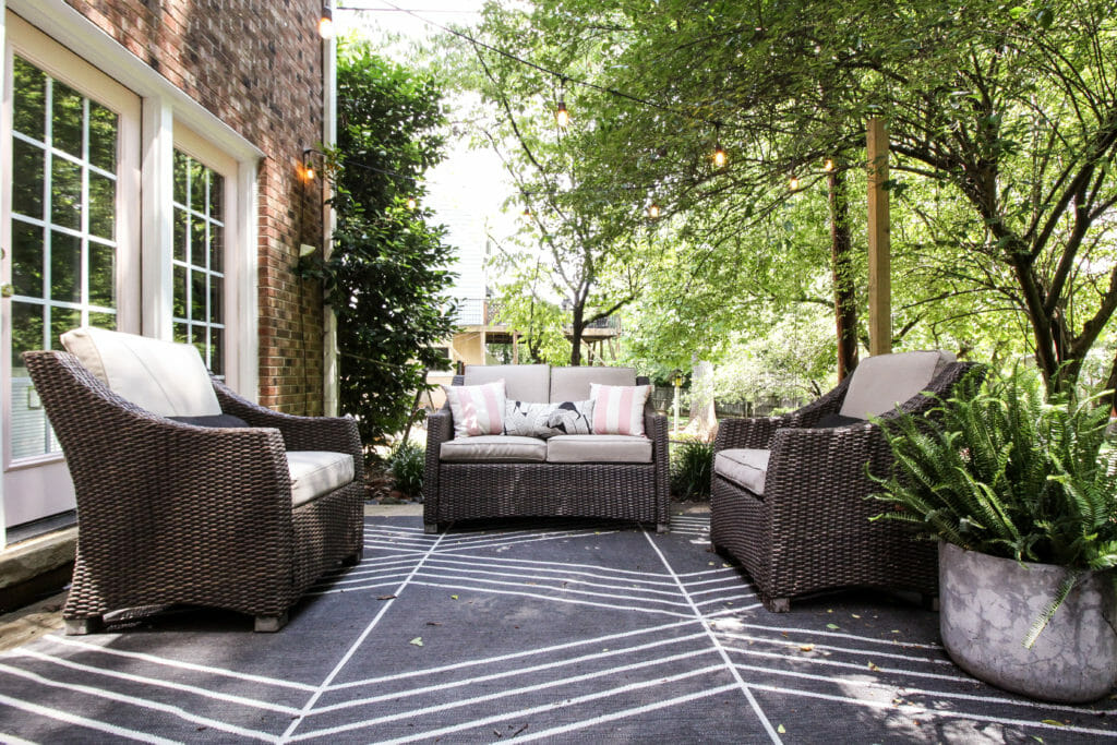 Summer Patio Seating Area