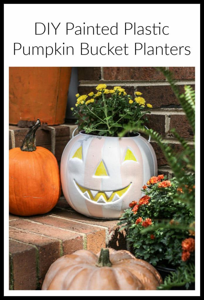 DIY Painted Pumpkin Bucket