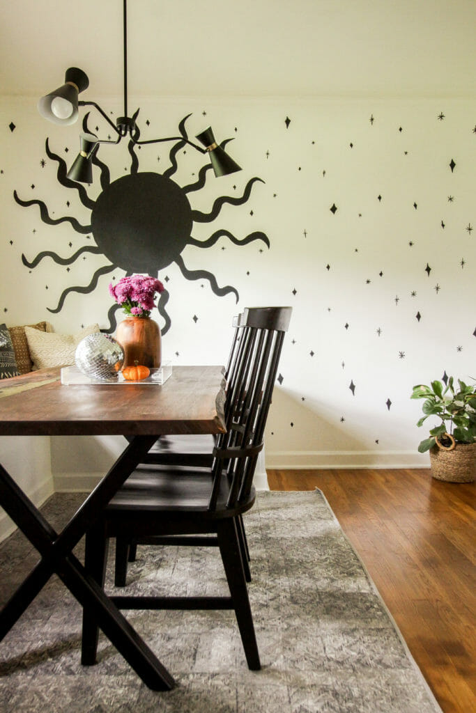 How to paint a sun mural