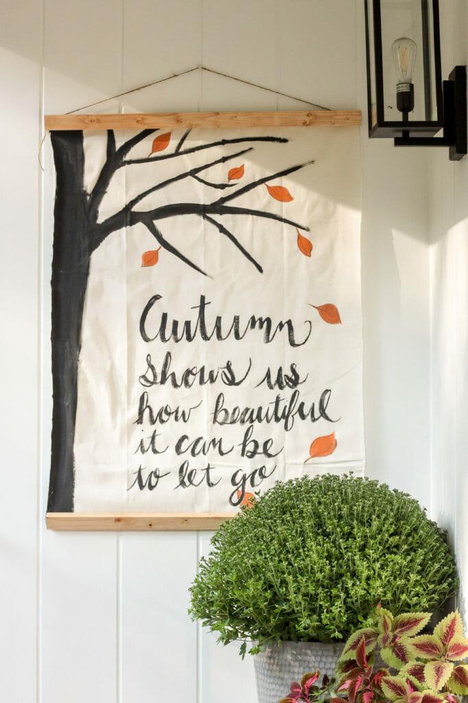 DIY Fall wall hanging