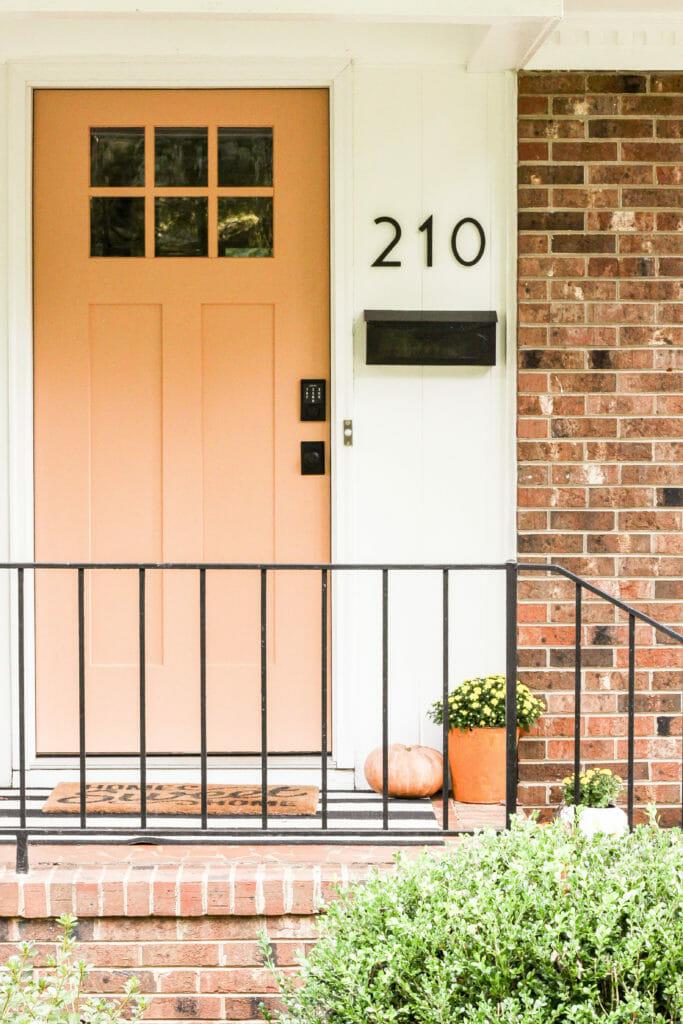 soft terra cotta front door