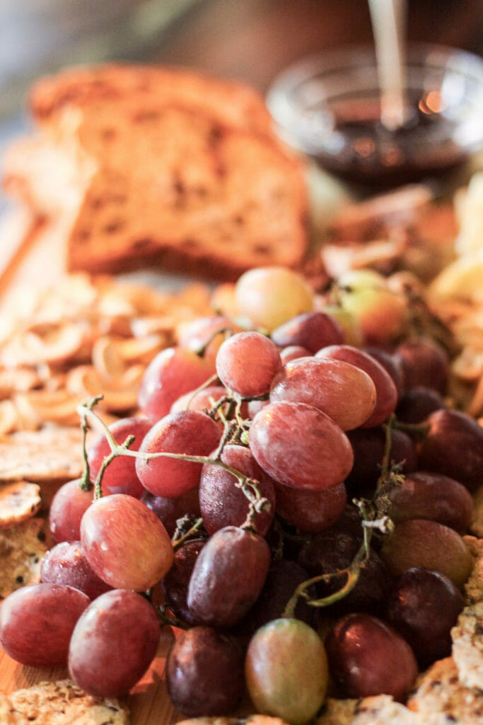 Wine and cheese snack board