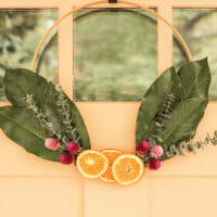 How to Make a Modern Hoop Wreath with Found and Foraged Goods
