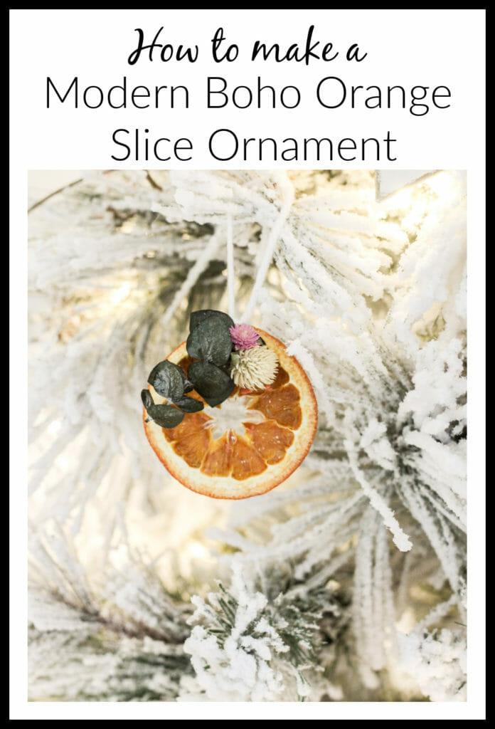 DIY orange slice ornament