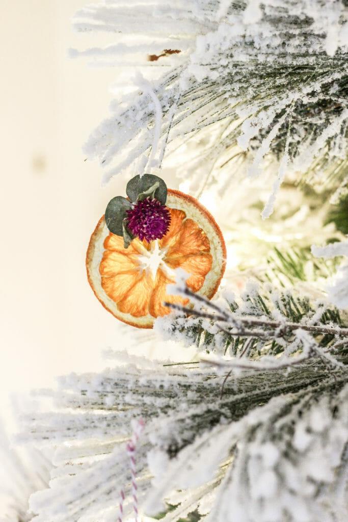 DIY boho orange slice ornaments