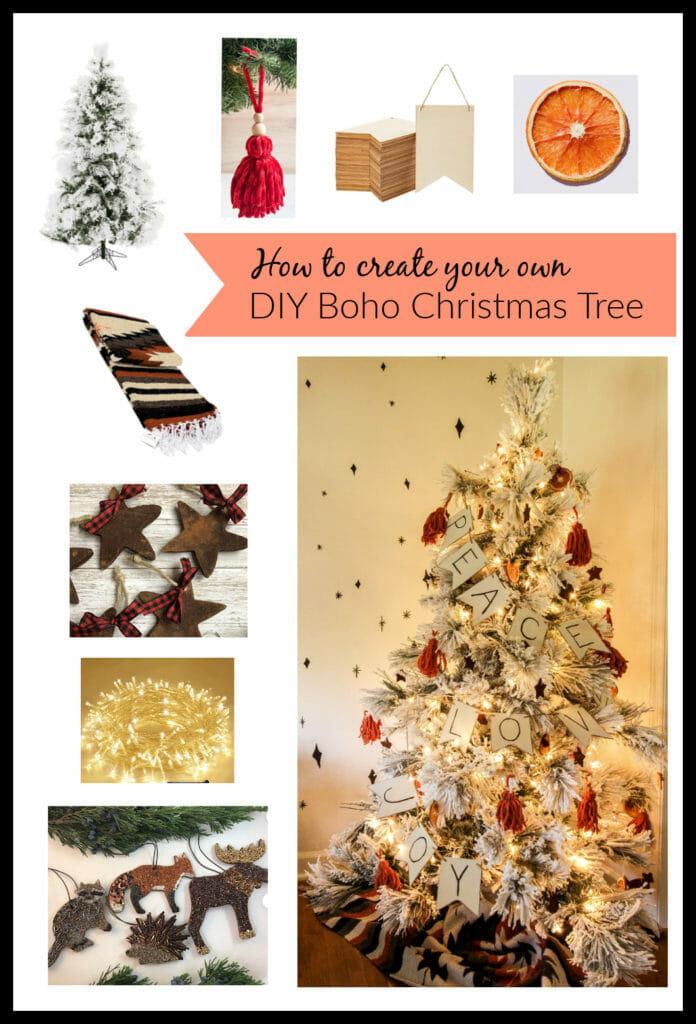 DIY modern boho christmas tree