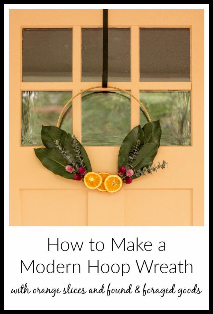 DIY modern orange slice wreath