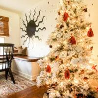 My Earthy Boho Christmas Tree with DIY Ornaments