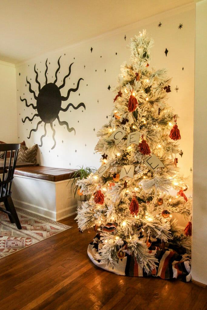 Cozy Modern Boho Christmas Tree