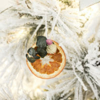 DIY boho orange slice ornament