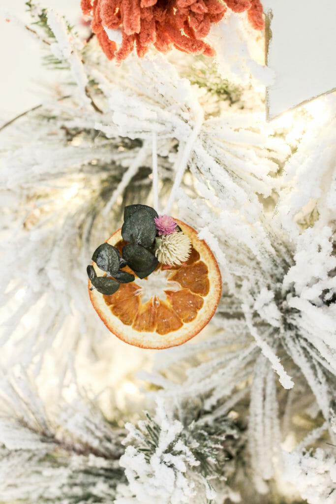 DIY boho orange slice ornament