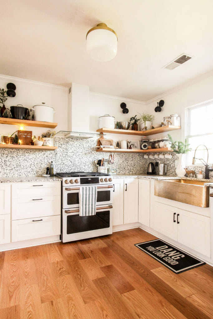 eclectic modern christmas decor kitchen