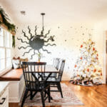 Eclectic Christmas Dining Nook