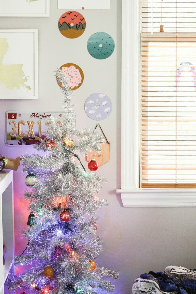 teen girl's christmas tree
