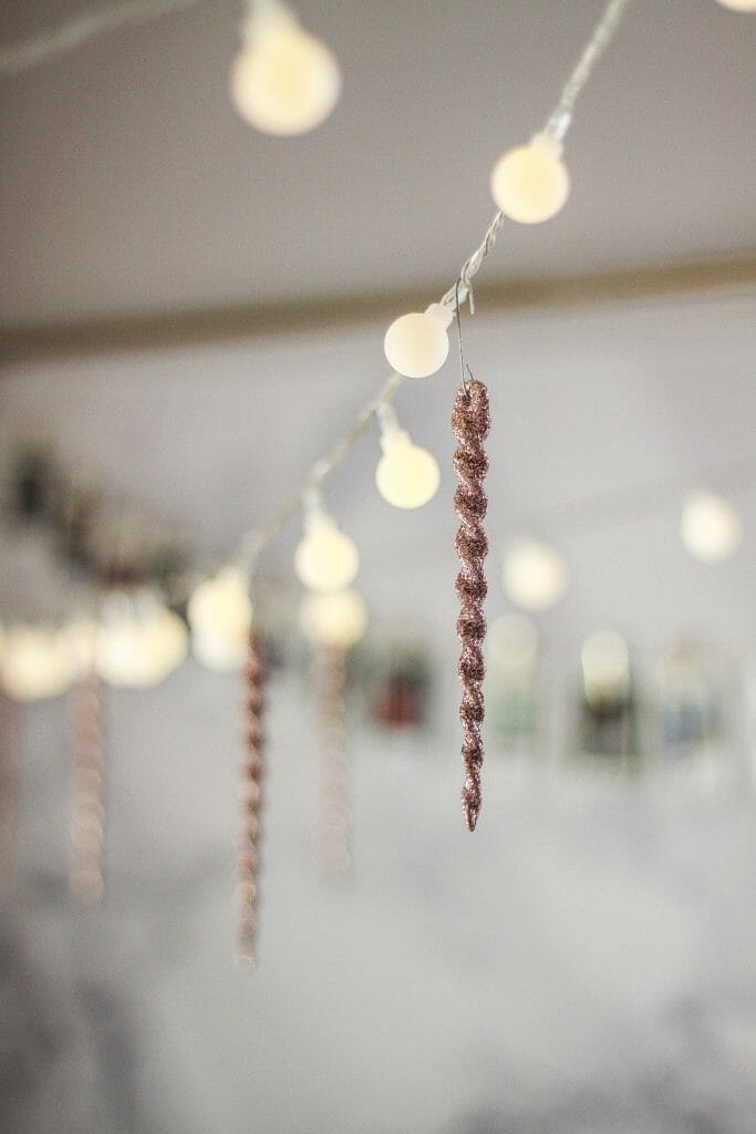 pink icicle ornaments