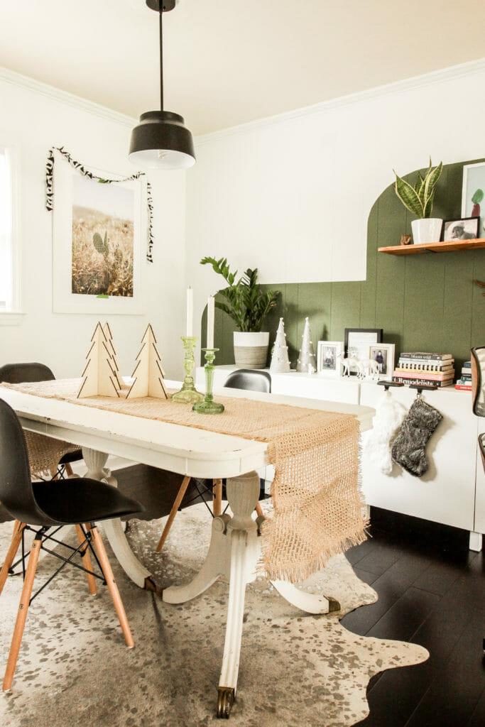 Modern boho table setting