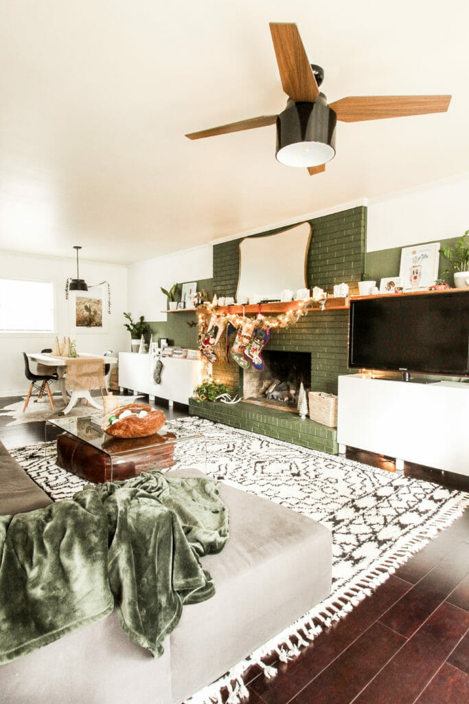 modern eclectic family room