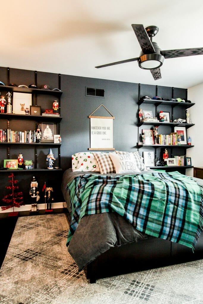 teenage Boy Moody Modern Bedroom