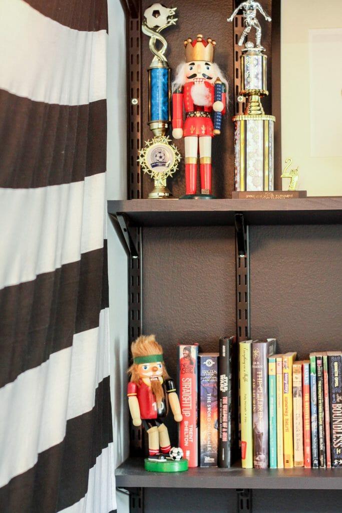 teen boy Christmas shelf