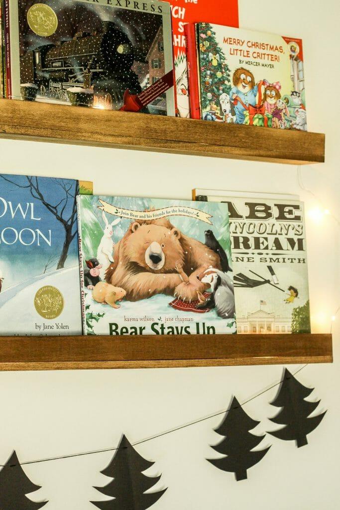 toddler holiday book ledges