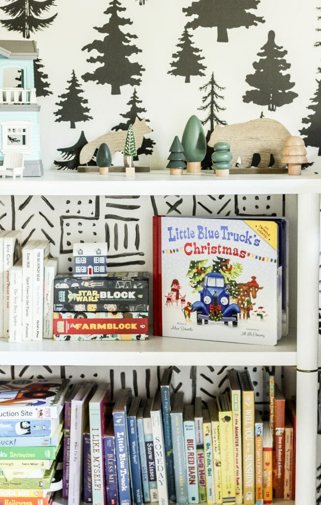 toddler christmas bookcase