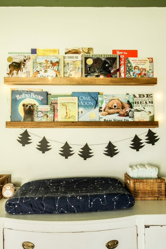 toddler christmas book display