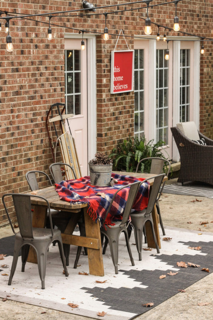 vintage inspired christmas patio