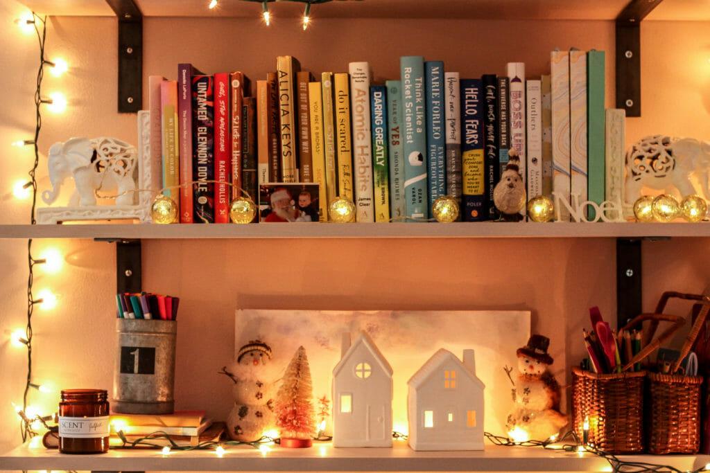 office christmas shelfie