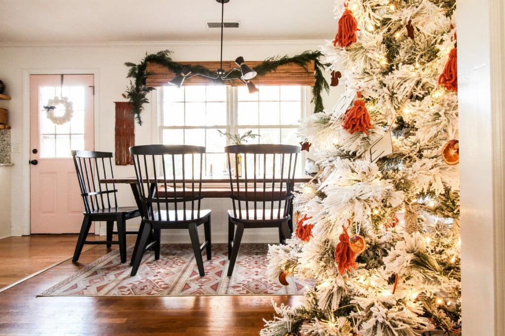 earthy chiristmas dining room