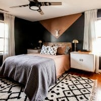 modern black bedroom