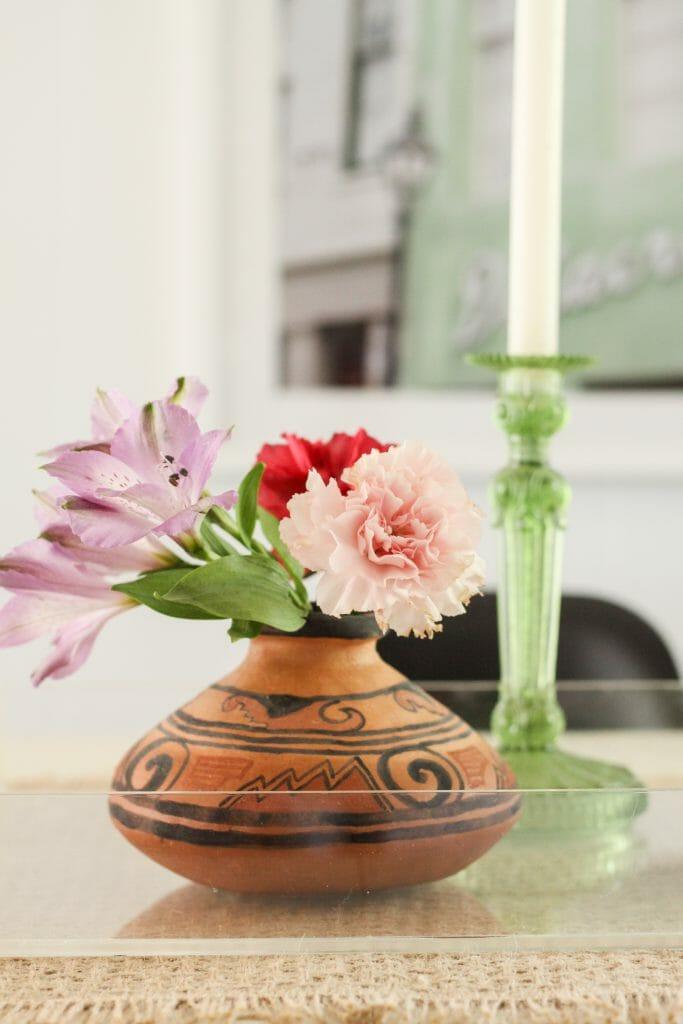 modern boho clay vase