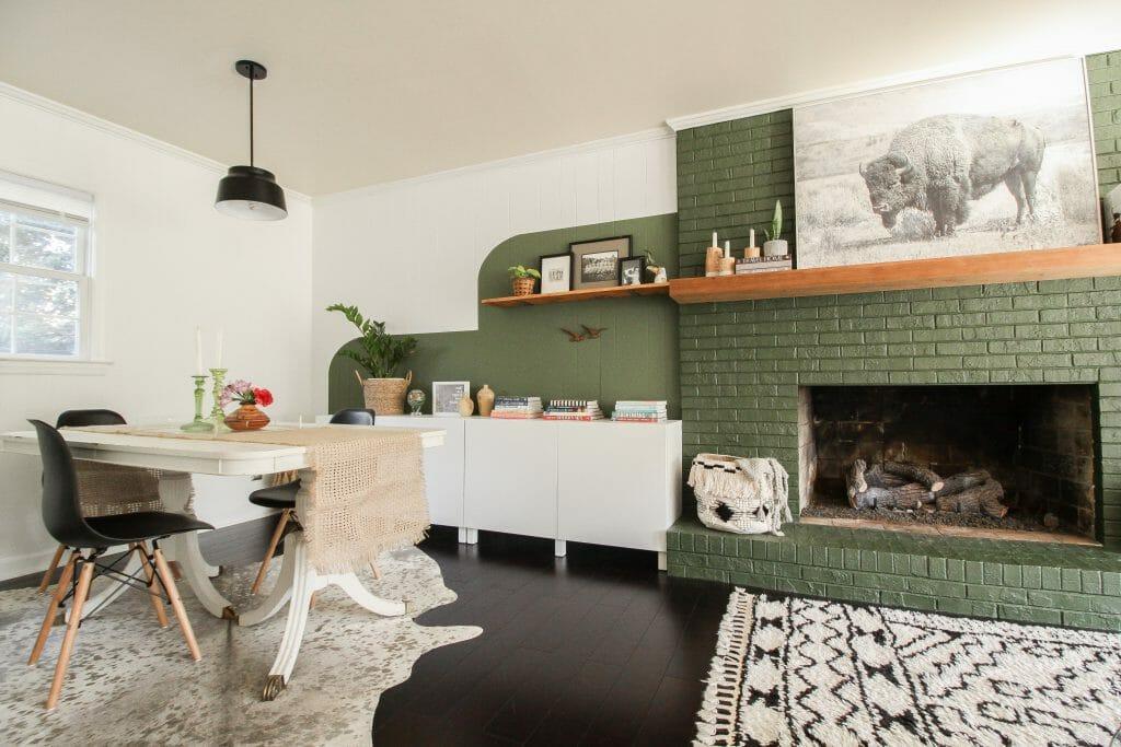 modern boho fam room