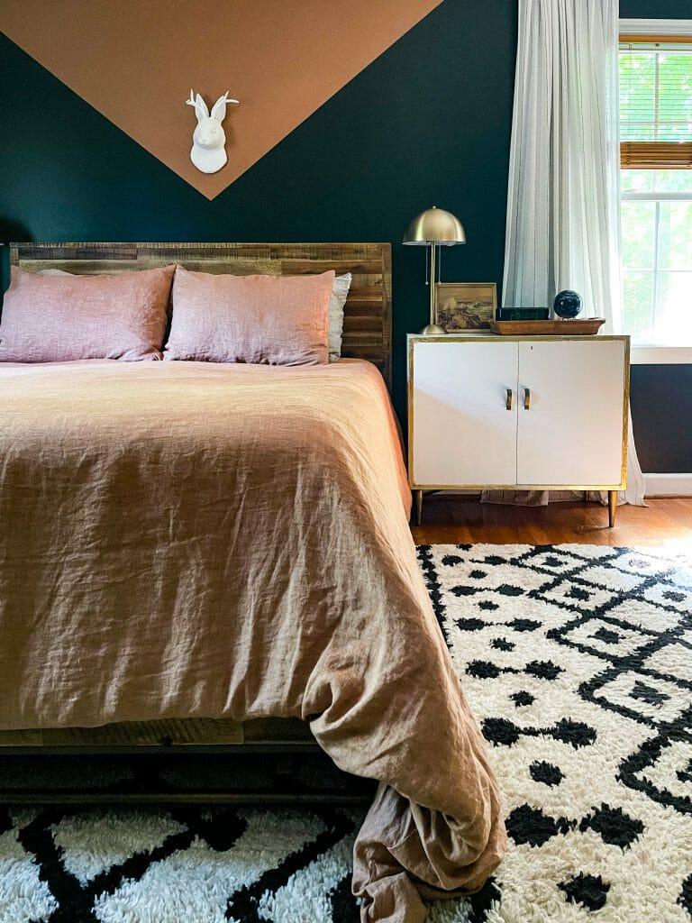 earthy modern boho bedroom