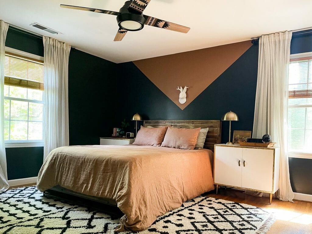 Simple earthy summer bedroom
