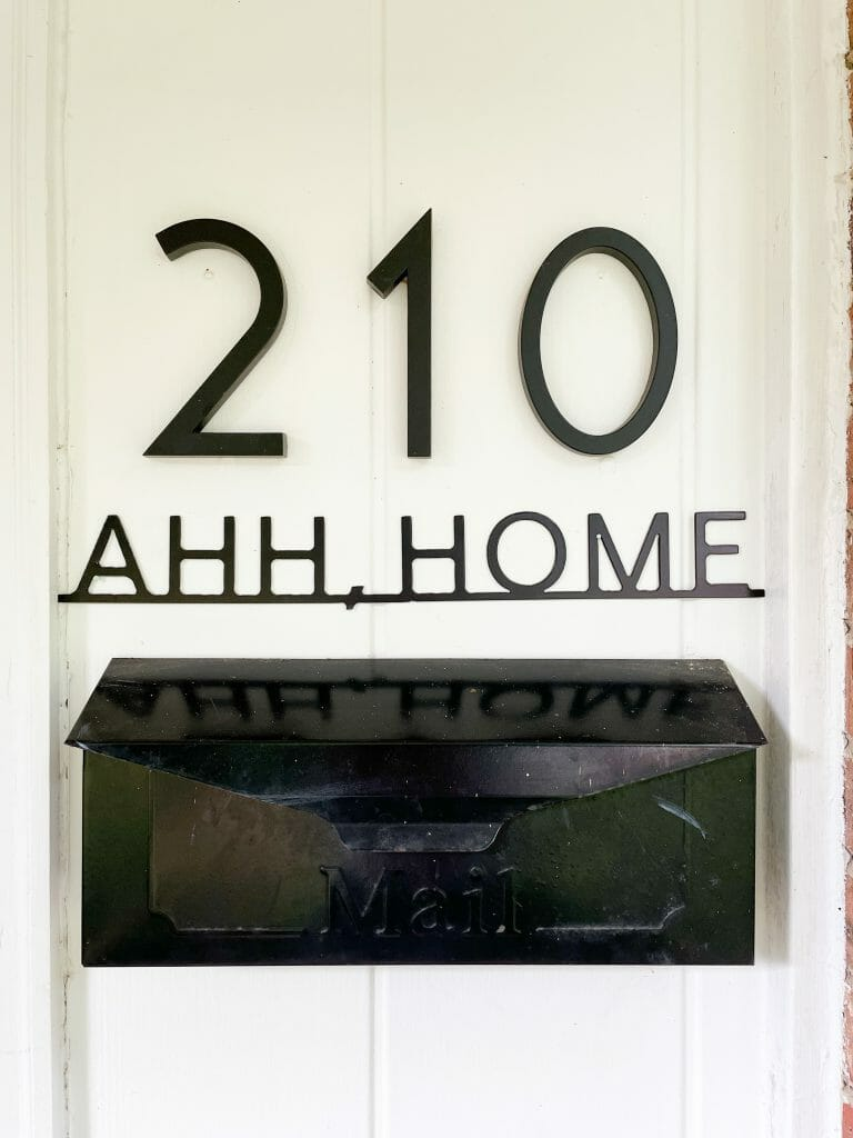 modern home sign for porch
