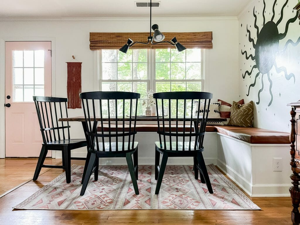 dining room nook banquette