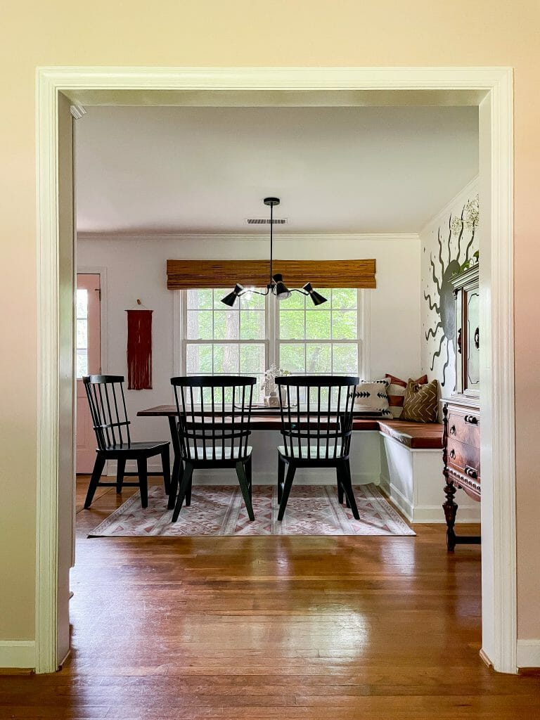 dining nook with banquette