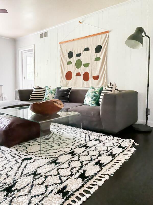 neutral modern family room