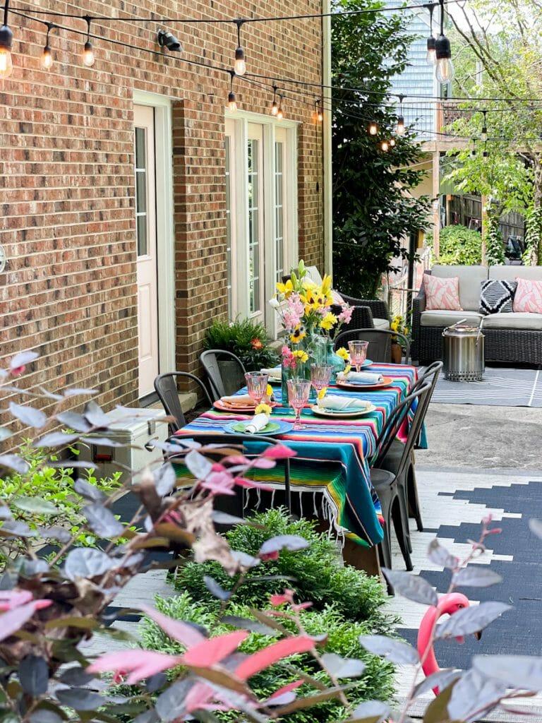 fun colorful patio