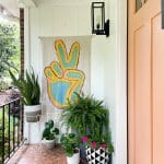 eclectic colorful front porch