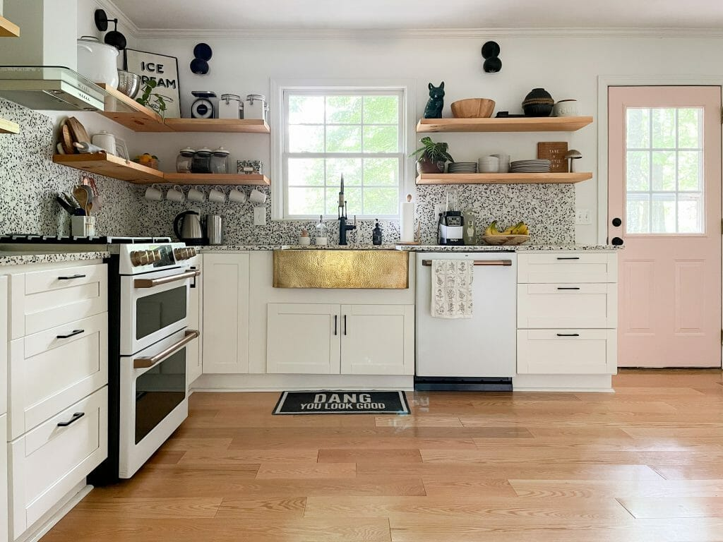 eclectic modern white kitchen